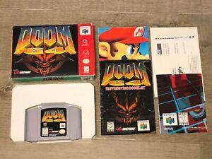 Doom 64 Nintendo 64 N64 Complete CIB Good Condition Authentic