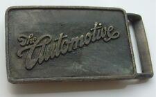 Vintage Brass Tone The Automotive Belt Buckle Car Automobile Related Vtg