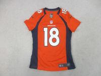 Nike Peyton Manning Denver Broncos Football Jersey Womens Small Orange Ladies *