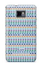 iLuv iSS222 Samsung Galaxy SII Hard Shell Case with Patterns 2 Colours