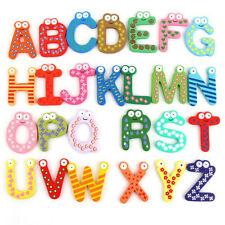 3 Packs A-Z Animal Letters Wooden Fridge Magnets Alphabet Kids Educational Toy
