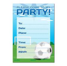Football Theme Party Invitation - 16 A6 Cards - Ideal for Kids Birthday Boys