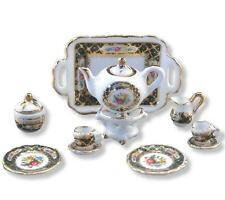 SALE Dollhouse Tea Set/2 Reutter Porcelain Irish Rose Miniature 1:12 gemjane