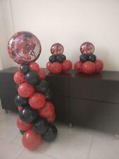 Palloncini Miraculous Kit2 Colonna 150cm e 2 Centrotavola Festa a tema Ladybug