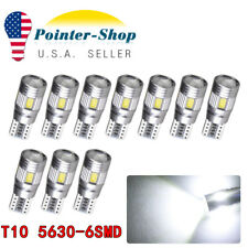 10x Super Bright White T10 5630 6SMD LED CANBUS ERROR FREE Interior Lights Bulbs