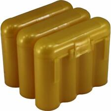 3 Brand New AA / AAA / CR123A Gold Battery Holder Storage Cases