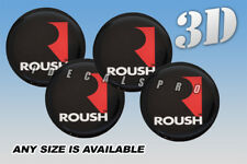 ROUSH domed wheel center cap decals emblems stickers 4 pcs ~ ANY SIZE ~ r/s/b