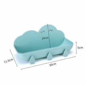 Creative Cloud Wall Mounted Bathroom Shelves Organizer Rack With Water Drop Hook