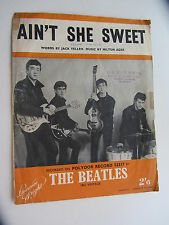 The Beatles Original 1964 sheetmusic Aint ella Dulce songsheet