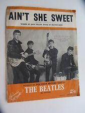 THE BEATLES    ORIGINAL 1964   SHEETMUSIC    AINT SHE SWEET     SONGSHEET