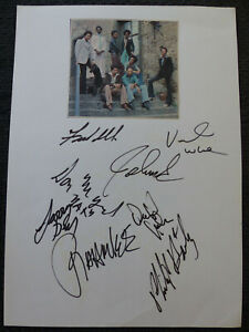 EARTH, WIND & FIRE signed 8x12 autograph pape by ALL 8 InPerson Berlin SCARCE!!