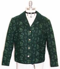 """HELLER SPORT JACKET GREEN WOOL Women Austria Designer Winter Dress 10 M B41"""""""