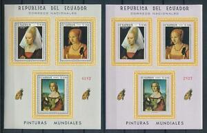 [105963] Ecuador 1967 Art paintings Durer Raphael Perf. + Imperf. Sheet MNH