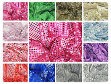 "Sequin Fabric - Shiny Sparkly Material - 44"" (112cm) wide - 6mm & 3mm"
