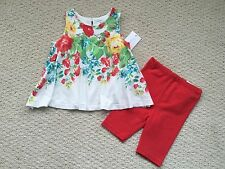 NWT $59 Ralph Lauren Girl's Floral Tunic Tank & Leggings Outfit Set - Sz. 6M
