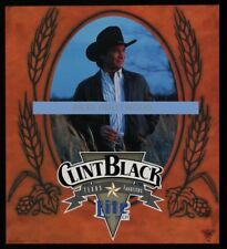 Original 1990s Clint Black Miller Lite Beer Promo Poster Free Shipping Man Cave