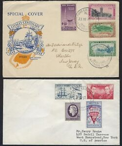 NEW ZEALAND 1930s 50s COLL OF 8 COVERS INCLUDING ROSS DEPENDENCY COOK ISLANDS