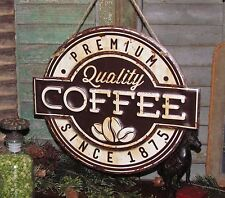 Primitive Antique Vtg Style Premium Quality Coffee Since 1875 Metal Tin Sign