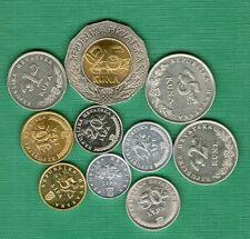 CROATIA  Full set coins (1 2 5 10 20 50 lipa  1 2 5 25 kuna ) 10 coin bimetal