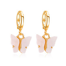 Fashion Butterfly Acrylic Insect Earrings Women Boho Dangle Drop Earring Cute