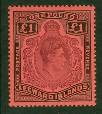 Leeward Islands £1 purple & black/carmine. A fine lightly mounted mint example..