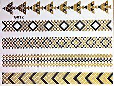 Flash Einmal Temporary Klebe Tattoo Gold Schwarz 5teile Armband Hals Kette G12