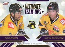 DEL Playercard 13/14 Sonderkarte Ultimate Team-Ups -Fischer & Schymanski-Krefeld