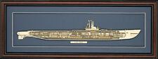 Wood Cutaway Model of WW II Submarine USS Balao (SS-285) - Made in the USA