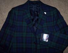 NWT Brooks Brothers $228 BLACKWATCH Plaid Wool Blazer/Suit Jacket Boys 4 SHARP