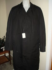 New Army Men's Overcoat Allweather Removable Liner Black 44XL
