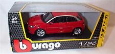 Audi A1 in Red 1-24 Scale Model New in box burago 22127