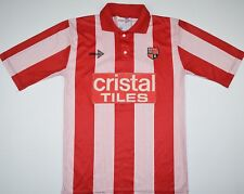 1989-1990 STOKE CITY SCORELINE HOME FOOTBALL SHIRT (SIZE S)