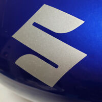 Suzuki S Logo Silver Metallic decals 1000 sticker 1100 GSXR 600 GSXS 750 DRZ 450