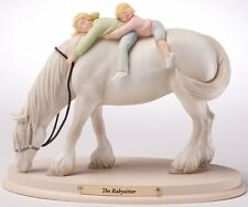 Horse Whispers THE BABYSITTER Stone Resin Majestic Clydesdale Figurine NIB