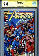 Avengers Vol 3 1 CGC 9.8 SS X2 Stan Lee Perez Captain America Thor Black Knight