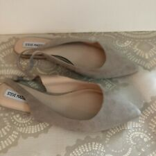 Steve Madden 11 Flats Slingback Suede Tan Neutral Shoes Comfortable