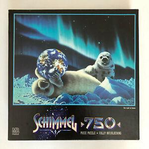 Vintage Milton Bradley Schimmel The Light of Home 750 Piece Puzzle Seals Earth