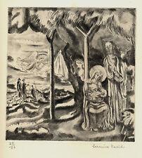"Hermine DAVID: gravure 1940 ""Nativité""/16/50/"