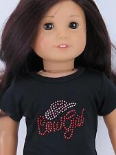 Pink and Red Metallic Studs COW GAL Short-Sleeved Knit T-Shirt fit American Girl