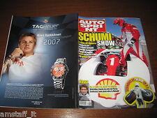 AUTOSPRINT 2007/48=MICHAEL SCUMACHER=RALLY MONZA VALENTINO ROSSI=TAG HEUER=