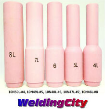 5 TIG Welding Long Ceramic Cup 10N46L-10N50L #4-#8 Torch 17/18/26 US Seller Fast