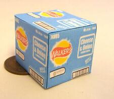 1:12 Scale Closed Empty Cheese & Onion Crisp Box Tumdee Dolls House Miniature