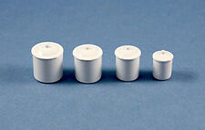 1/12 Scale: Very Nice Dollhouse Miniature White Canister Set with Lids #Im65573