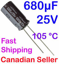 2pcs 680uF 25V 10x20mm 105 °C Nichicon PW For PC TV AUDIO VIDEO TFT ACL LCD DVD