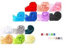 Candy color Women fashion stylish long soft silk chiffon scarf Wrap Shawl Scarve
