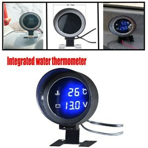 Car Digital Integrated Voltage Water Temperature Gauge w/16MM Sensor Practical