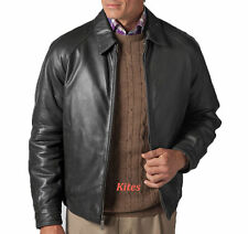 New Classic Wear Trendy Soft Lambskin Leather Grey Bomber Jacket For Men MA536