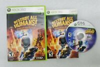 Destroy All Humans Path of the Furon (Microsoft Xbox 360, 2008) w/ Case