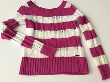 Ecko-Red Women XS Long Sleeve Knit with Pink stripes