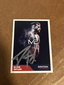 David Taylor Penn State Olympic Gold USA Wrestling NLWC Authentic Autograph Card